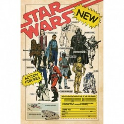 Poster Star Wars Action Figures
