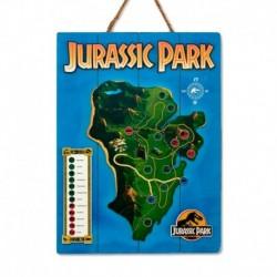 Cuadro De Madera 3D Jurassic Park Map Internacional