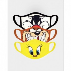 Mascarilla Looney Tunes Pack 3 Unds.