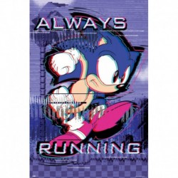 Poster Sonic Always Running