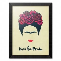 Print Enmarcado 30X40 Cm Frida Kahlo Viva La Frida