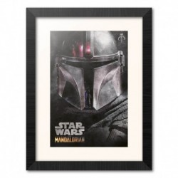 Print Enmarcado 30X40 Cm Star Wars The Mandalorian Helmet