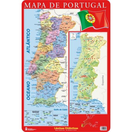 Lâminas Educativas Mapa Portugal