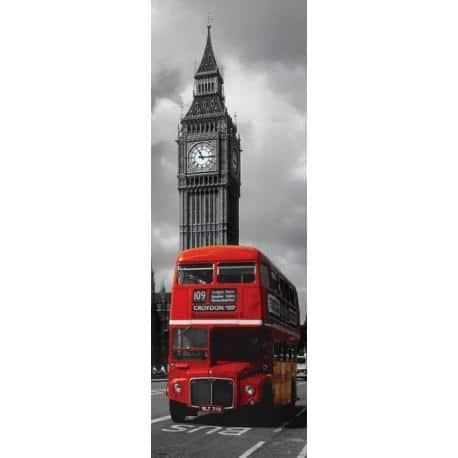 Poster Puerta Londres Autobus Rojo