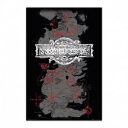 Poster Juego De Tronos Mapa