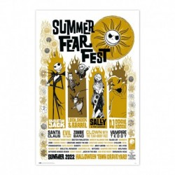 Poster Disney Pesadilla Antes De Navidad Summer Fear Fest