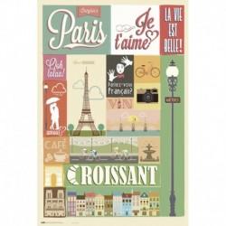 Poster Paris Collage