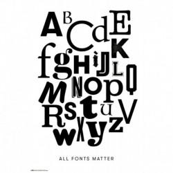 Poster All Fonts Matter