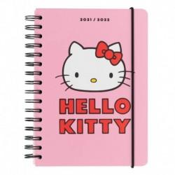 Agenda Escolar 2021/2022 A5 Semana Vista 12 MesesHello Kitty