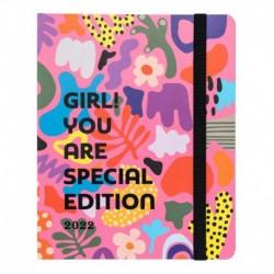 Agenda Escolar 2021/2022 Semana Vista Premium 17 Meses Girl! You Are Special Edition By Kokonote