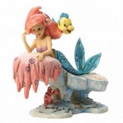 Figura Disney La Sirenita Ariel En La Roca