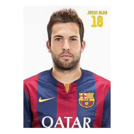 Postal Fc Barcelona Jordi Alba 2014-15