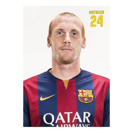Postal Fc Barcelona Jérémy Mathieu 2014-15