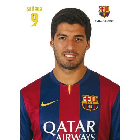 Postal A4 Fc Barcelona Luis Suarez 2014-15