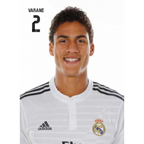 Postal Real Madrid Varane 2014-15