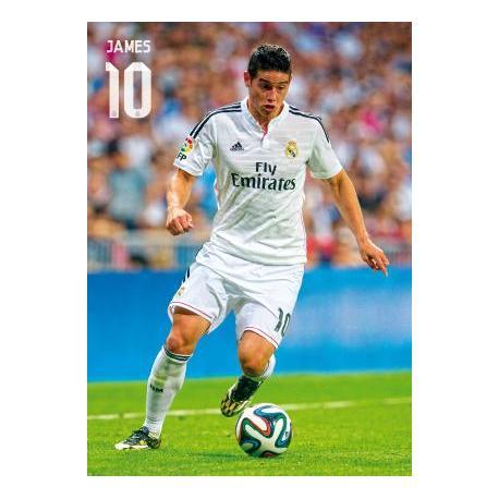 Postal Real Madrid James Rodriguez (Accion) 2014-15