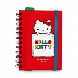 Agenda Escolar 2021/2022 Dia Pagina Hello Kitty