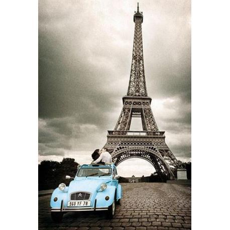 Poster Paris Romance Citroen Azul