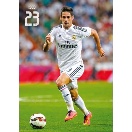 Postal Real Madrid A4 Isco 2014-15