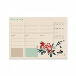 Bloc Planificador Semanal A4 Japanese Ingles