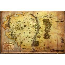 Poster Mapa The Hobbit