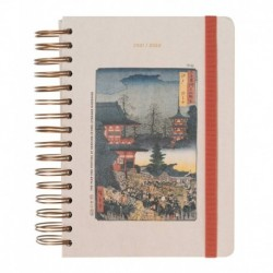 Agenda Escolar 2021/2022 A5 Dia Pagina 12 Meses Japanese Art By Kokonote