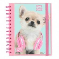 Agenda Escolar 2021/2022 Semana Vista Studio Pets Dogs