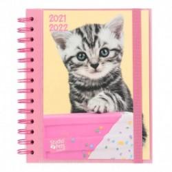 Agenda Escolar 2021/2022 Semana Vista Studio Pets Cats