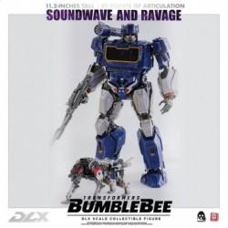 Figura Dlx Transformers: Bumblebee Soundwave Y Ravage