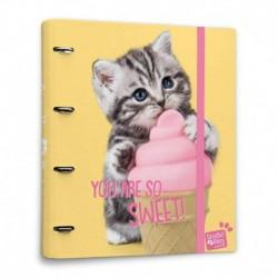 Carpeta 4 Anillas Studio Pets Cat Lovely Kittens