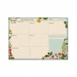Bloc Planificador Semanal A4 Botanical Aleman