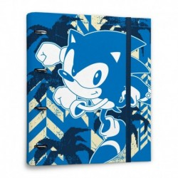Carpeta 4 Anillas Sonic The Hedgehog