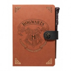 Cuaderno A5 Con Boligrafo Varita Harry Potter