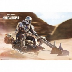 Poster Star Wars The Mandalorian Speeder Bike