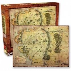 Puzzle De 1000 Piezas El Señor De Los Anillos El Hobbit Mapa Tierra Media