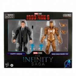 Figura Marvel Happy Hogan Y Iron Man Mark Xxi Serie Legends