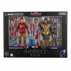Figura Marvel Los Vengadores Endgame Iron Man Y Thanos Serie Legends