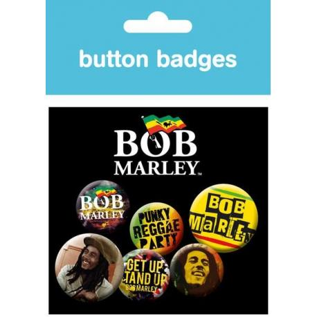 Pack Chapas Bob Marley One Love