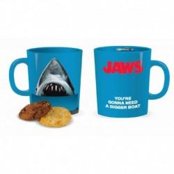 Taza Con Apertura Para Galletas Tiburon Jaws