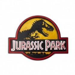 Placa Metalica Jurassic Park Logo