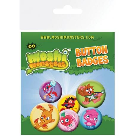 Pack de chapas Moshi Monsters Monsters
