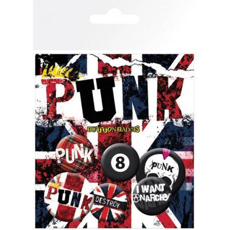 Pack de chapas Punk Union Jack