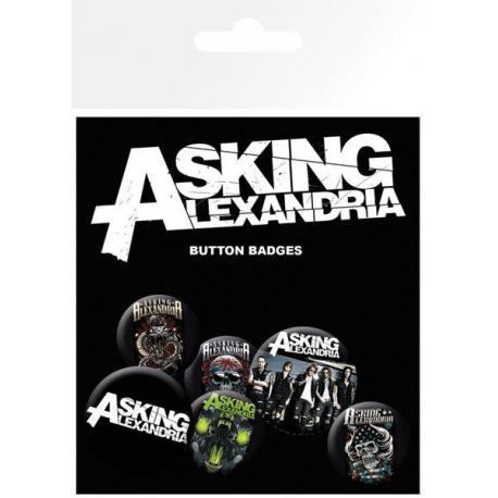 Pack de chapas Asking Alexandria Graphics