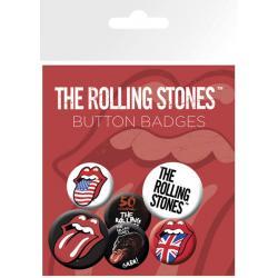 Pack de chapas The Rolling Stones Labios