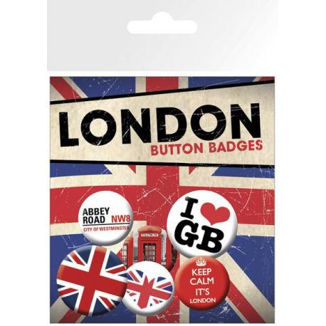 Pack de chapas London Keep Calm