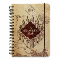 Agenda Anual Semana Vista A5 2022 Harry Potter Mapa Del Merodeador