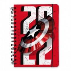 Agenda Anual Semana Vista A5 2022 Capitan America Escudo