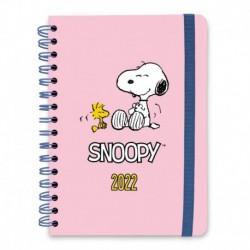 Agenda Anual Semana Vista A5 2022 Snoopy