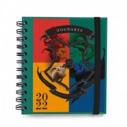 Agenda Anual Dia Pagina M 2022 Harry Potter Escudo Hogwarts