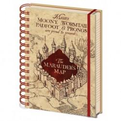 Cuaderno A5 Harry Potter Mapa Del Merodeador Wire-O